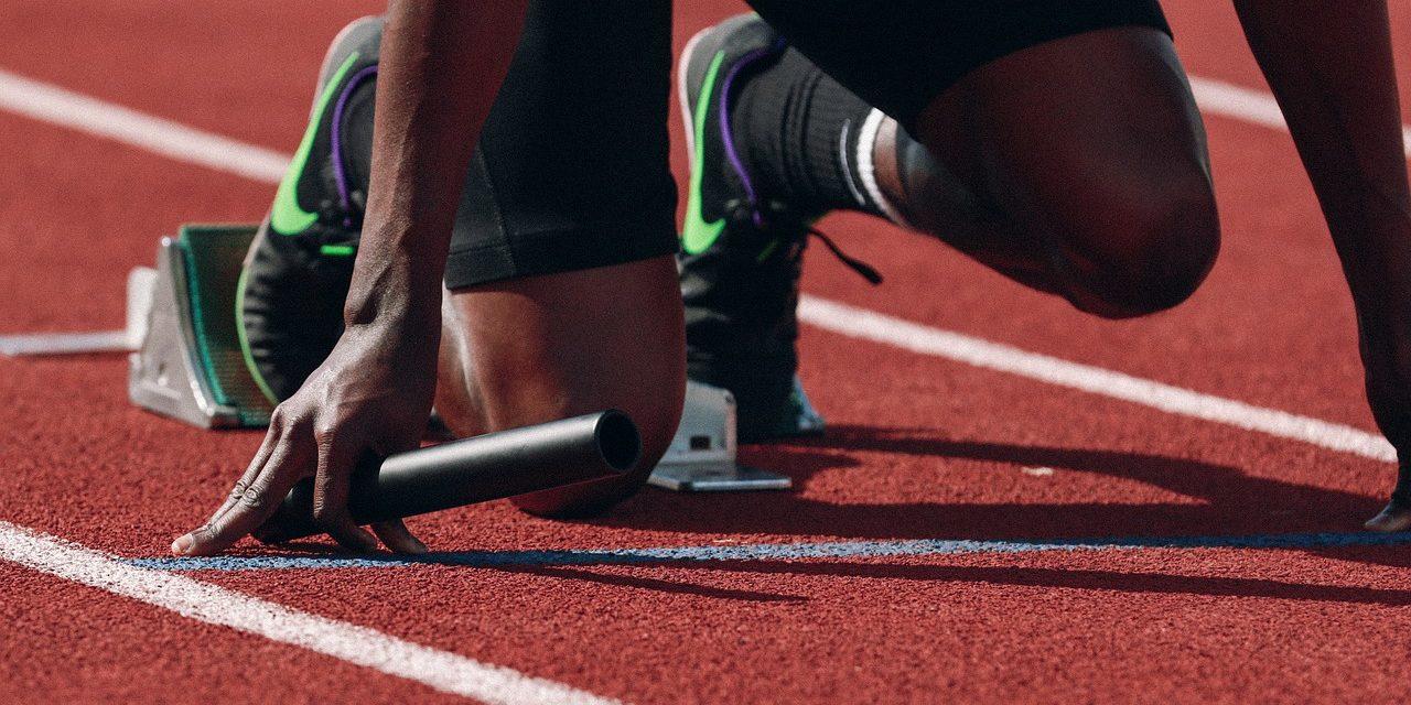 baton holding athlete - sports equity endorsement