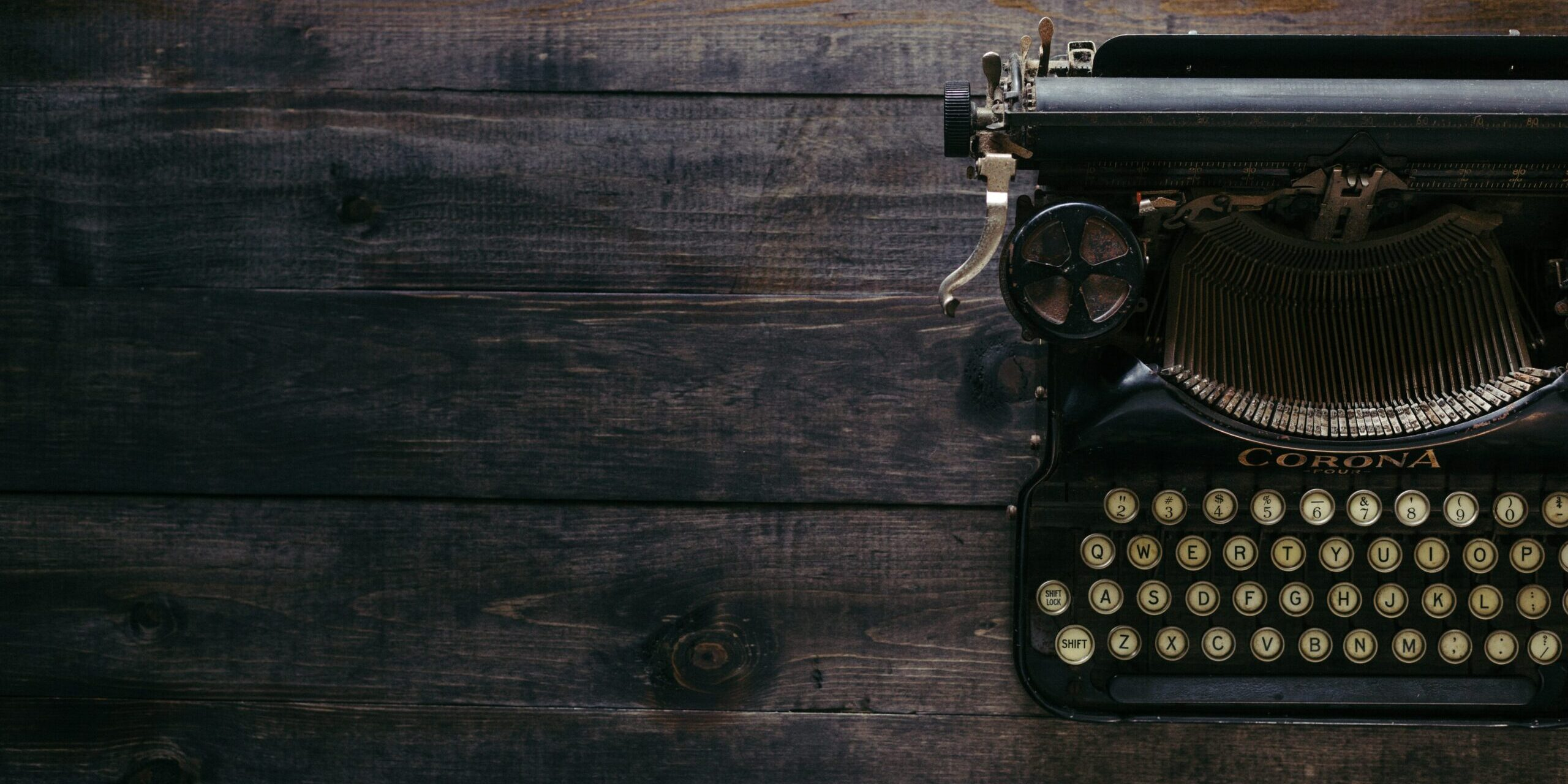 Writers Guild, typewriter on plank boards