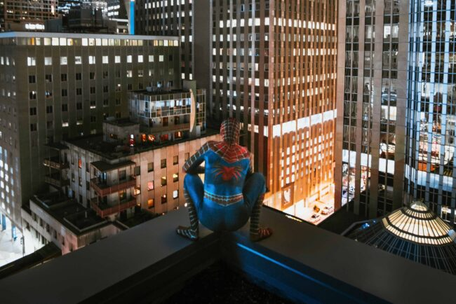 Spiderman on a Roof